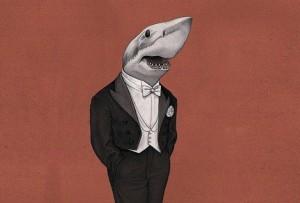 If  sharks were men