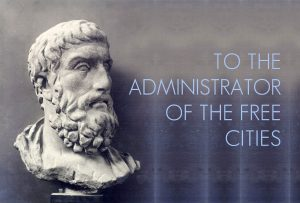 To the administrator of the free cities who was an Epicurean