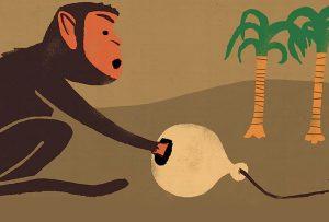 Η μαϊμού με την κλειστή γροθιά. (JOHN IZZO)